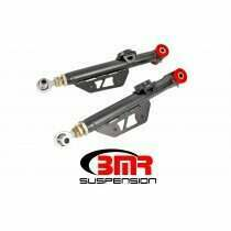 BMR TCA055H 1999-2004 New Edge Mustang Lower control arms, DOM, On-car adj, Poly/rod End Combo (Black Hammertone)
