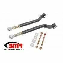 BMR TR110H 2008-2020 Challenger Toe Rods, Rear, On-car Adjustable, Delrin/rod End Combo (Black Hammertone)