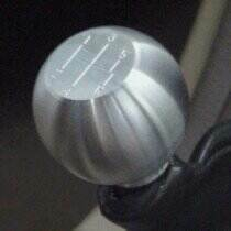 1979-2004 Mustang Round Billet Shift Knob 5spd Logo