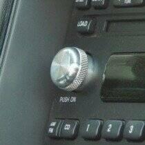 2001-2004 Flat Style Billet Aluminum Radio Button
