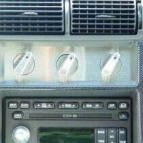 UPR Stainless Brushed Finish A/C Panel Inserts w/o Engraving