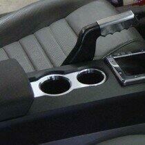 UPR 05-09 Mustang Billet Cup Holder Bezel