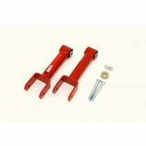 BMR 79-04 Upper Non-adjustable Control Arms w/ Spherical Bushings (Red)