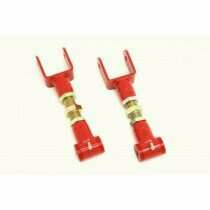 BMR 79-04 Mustang Upper Adjustable Control Arms with Poly Bushings (Red)