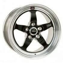 """Weld Racing Mustang 15x8"""" S71 RT-S Black Rear Wheel (86-93 Mustang 5 Lug / 94-04 Mustang / 05-2010 Mustang / 2011-2014 Mustang V6)"""