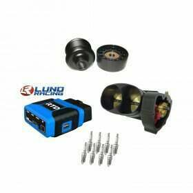 Lethal Performance Boost Upgrade Power Pack - VMP Pulley & Idler, Throttle Body, NGK Plugs, Lund Tune, HPT RTD Tune Device (2013-2014 Shelby GT500)