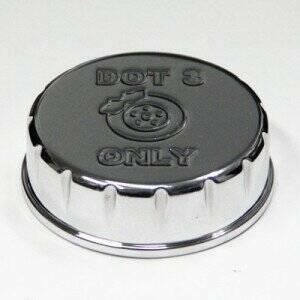 UPR 05-2014 Mustang Billet Brake Reservoir Cap Cover (Polished)