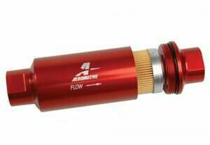 Aeromotive Billet Fuel Filter with Red Housing (10 Micron Element)