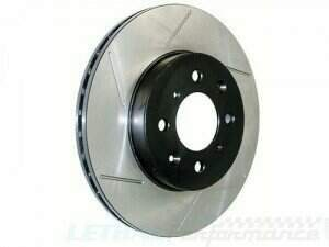 Stop Tech 07-2014 Mustang Slotted Front Left Brake Rotor (07-2012 Shelby GT500 ; 2011-2014 Mustang GT 5.0L w/ Brembo's ; Boss 302)