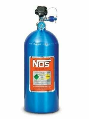 NOS 10lb Electric Blue Nitrous Bottle