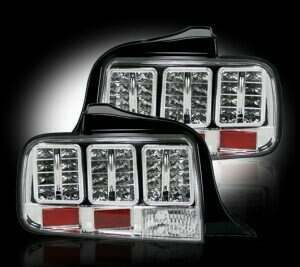 Recon 05-09 Mustang CLEAR LED Tail Lights