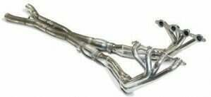 """SLP 06-08 Z06 1-3/4"""" Coated Longtube Headers w/Cats and X-Pipe"""