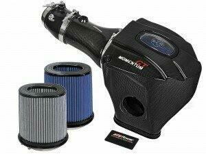 AFE 52-72205-CF Black Series Momentum Carbon Fiber Cold Air Intake System w/Dual Filter Media (2017-2019 Challenger / Charger Hellcat)