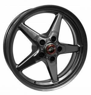 Race Star RSI-92-850145G 92 Drag Star Bracket Racer Metallic Gray  18x5 5x4.50BC 2.00BS ((2011-2014 Mustang GT / 2012-2013 Boss 302 / 2013 & 2014 GT500 & 2015+ GT w/ Standard or Upgraded Brake Pkg)