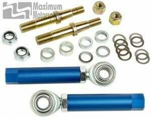Maximum Motorsports 94-04 Mustang Adjustable Tie-Rod Ends/Bump Steer Kit (tapered stud) - MMTR-4
