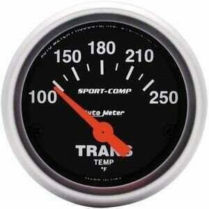 "Autometer Sport Comp 2 1/16"" 100-250deg Electric Trans. Temp"