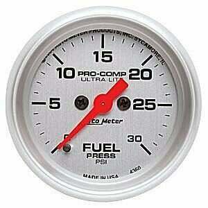 "Autometer Ultra-Lite Series 2 1/16"" 0-30 PSI Fuel Pressure Gauge"