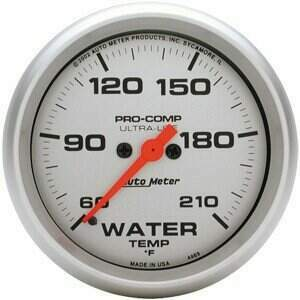 "Autometer Ultra-Lite Series 2 1/16"" 60-210 deg Water Temp Gauge"
