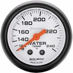 """Autometer Phantom II Series 2 1/16"""" 160-260 deg Water Temp Gauge"""