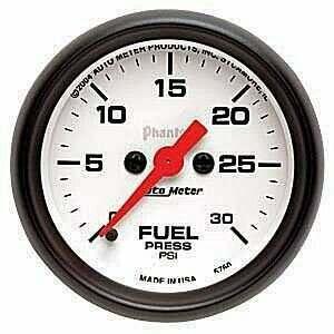 "Autometer Phantom Series Electric 2 1/16"" 0-30 PSI Fuel Pressure"