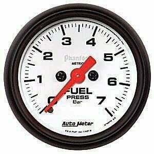 "Autometer Phantom II Series Elec 2-1/16"" 0-100 PSI Fuel Pressure"