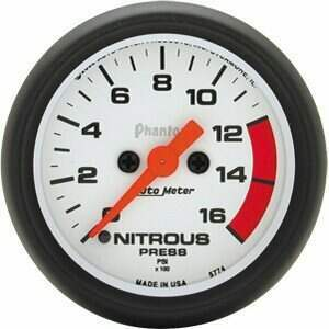 "Autometer Phantom II Series 2 1/16"" 0-1600 PSI Nitrous Pressure"
