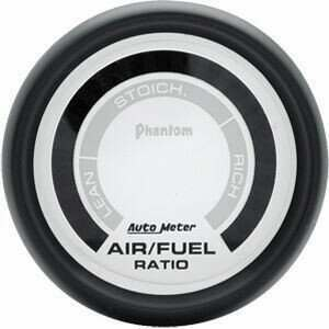 "Autometer Phantom Series 2 1/16"" Lean-Rich Air/Fuel Ratio Gauge"