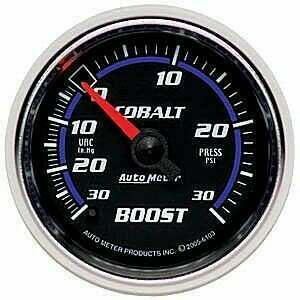 Autometer Cobalt Series 2-1/16 Mechanical -30/+20Psi Boost Gauge