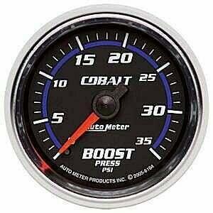 Autometer Cobalt Series 2-1/16 Mechanical 0-35Psi Boost Gauge