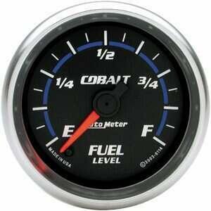 """Autometer Cobalt Series 2 1/16"""" Programmable Fuel Level Gauge"""