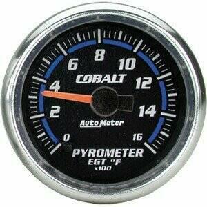 "Autometer Cobalt Series 2 1/16"" Electric Pyrometer Gauge"