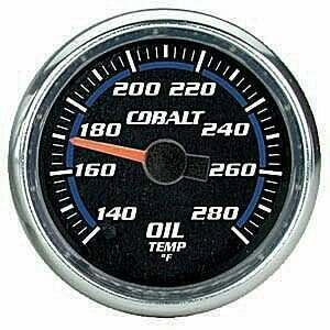 "Autometer Cobalt Series 2 1/16"" Electric Oil Temperature Gauge"