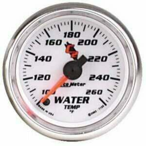 "Autometer C2 Series 2-1/16"" Electric Water Temperature Gauge"