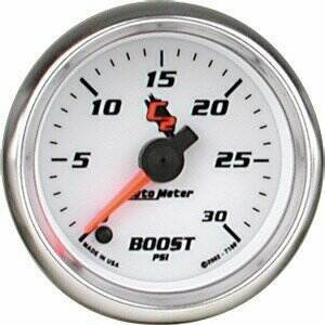"Autometer C2 Series 2 1/16"" Electric 0-30 PSI Boost Gauge"