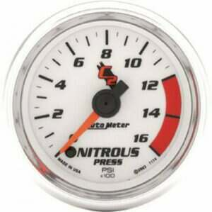 "Autometer C2 Series 2-1/16"" Electric Nitrous Pressure Gauge"