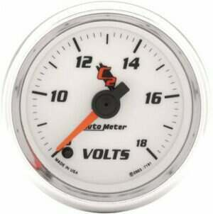 "Autometer C2 Series 2-1/16"" Electric Voltmeter Gauge"