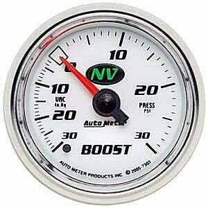 "Autometer NV Series 2-1/16"" Mechanical -30/+30psi Boost/Vac"