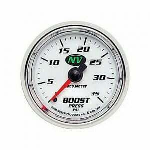 "Autometer NV Series 2 1/16"" 0-35 PSI Mechanical Boost Gauge"
