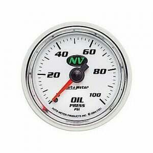 Autometer NV Series 0-100 Psi Mechanical Oil Pressure Gauge