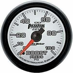"Autometer Phantom II Series 2 1/16"" 0-100 psi Boost Gauge"