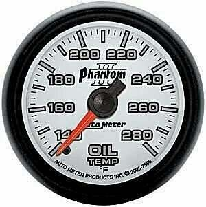 "Autometer Phantom II Series 2 1/16"" 140-280 deg. Oil Temp Gauge"