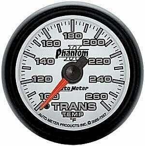 Autometer Phantom II Series 100-260 deg. Trans Temp Gauge