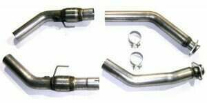 """Bassani 5407R3M 2007-2010 Shelby GT500 3"""" Catted Connection Tubes (Bolts Stock Manifolds to Bassani 3"""" Catback System)"""