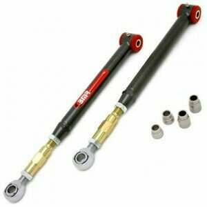 BMR 05-2014 Mustang On-Car Adjustable Lower Control Arms with Poly/Rod End Bushing Combo (Black Hammertone)