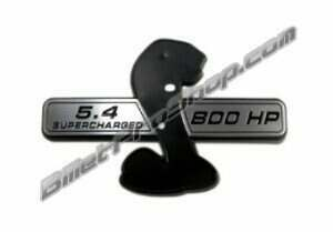 Billet Pro Shop Shelby GT500 HP Rating Fender Wings (HP Rating and Displacement)