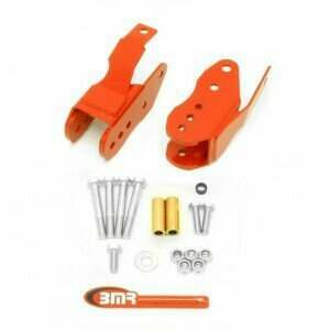 BMR Suspension CAB005R 2005-2014 Mustang Bolt-in Lower Control Arm Relocation Brackets (Red)