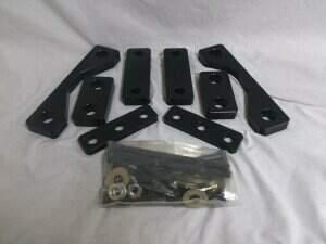Whipple 07-14 GT500 K-Member Spacer kit / Black / **Does not include motor mounts**