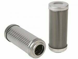 DivisionX 10 Micron Wire Mesh Washable Repleacement Filter Element (E85 and Flex Fuels)