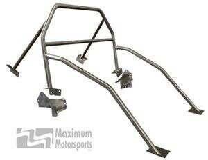 Maximum Motorsports Drag Race 6-point Mustang Roll Bar, Standard Door Bars, Fixed Harness Mount (2005-2014 Mustang Hardtop) - Mm5RB-20