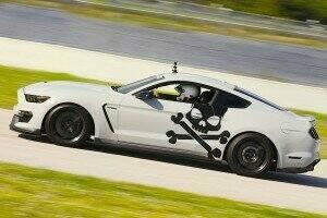 Lethal Performance Mustang Skull and Crossbones Side Decals (Satin Black)